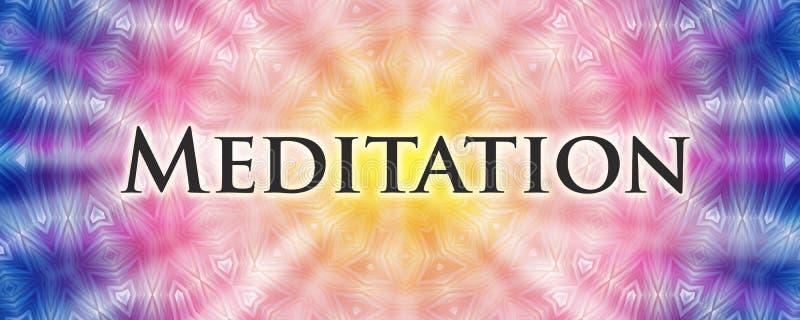 Medytaci mandala royalty ilustracja