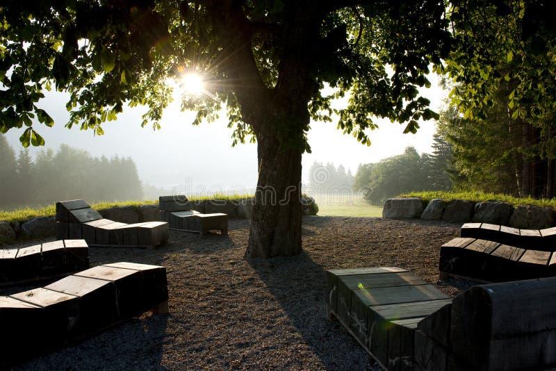 medytaci miejsce zdjęcie stock