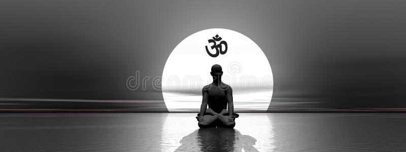 medytacja om ilustracja wektor