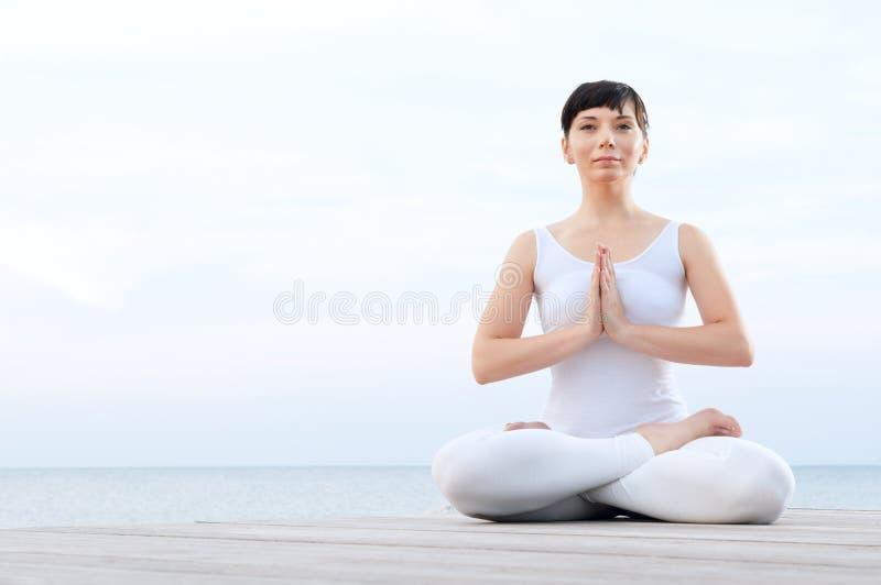 medytacja relaksuje joga obraz stock