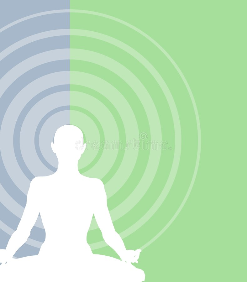 medytacja tło ilustracja wektor