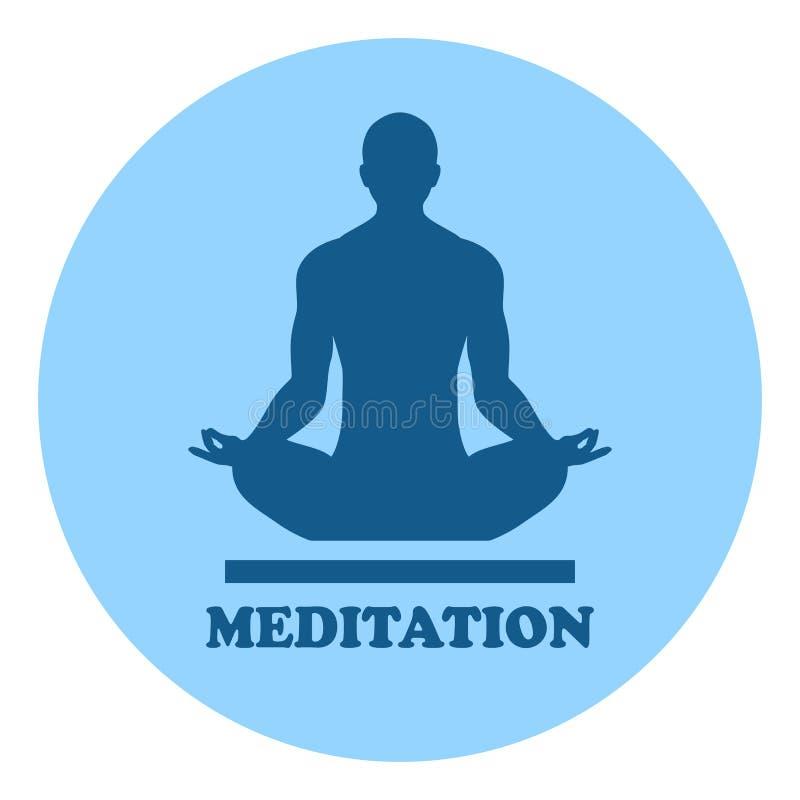 Medytacja wektoru logo ilustracji
