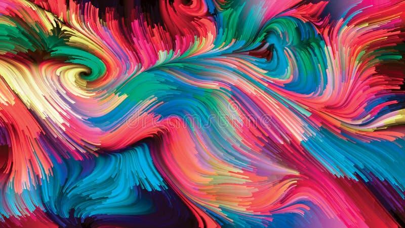 Medytacje na Ciekłym kolorze royalty ilustracja