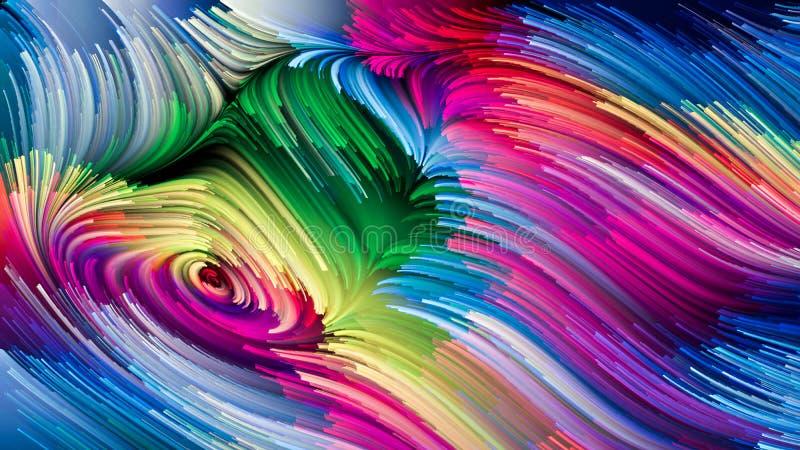 Medytacje na Ciekłym kolorze ilustracji