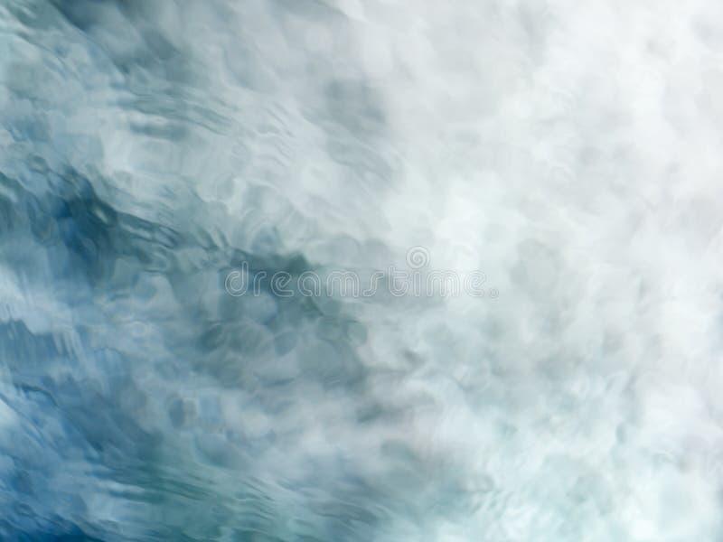 Medytacyjny błękitnej zieleni bieżącej wody tło fotografia stock