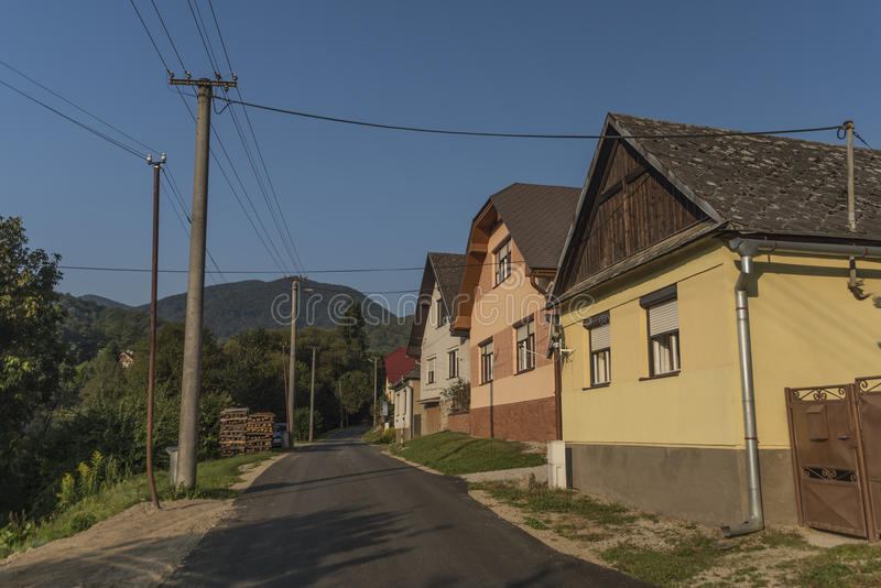 Medzevdorp in het oosten van Slowakije royalty-vrije stock foto