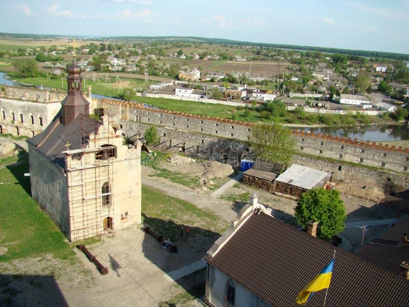 Medzhybizhkasteel in het westen van de Oekraïne royalty-vrije stock afbeelding