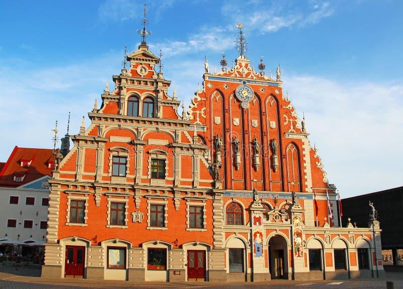 Meeëtershuis, Riga, Letland royalty-vrije stock afbeeldingen
