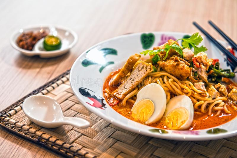 Mee del curry fotografia stock