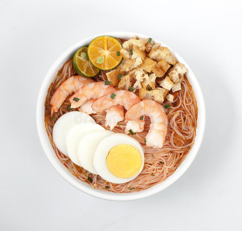 Mee Siam, Siamese noodle stock photos