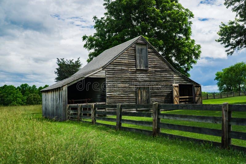 Meeks la stalla nel parco storico nazionale della Camera di corte di Appomattox fotografia stock