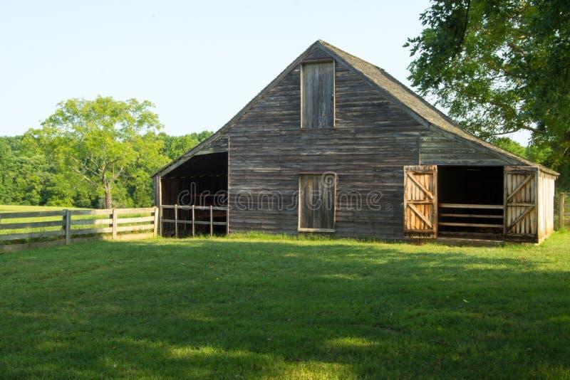 Meeks la stalla - parco storico nazionale della Camera di corte di Appomattox immagine stock
