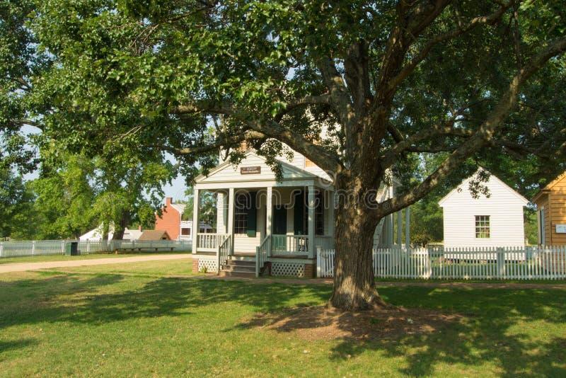 Meeks sklep - Appomattox Dworskiego domu Krajowy Dziejowy park zdjęcia royalty free