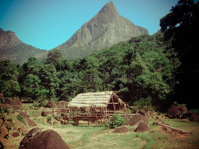 Meemure村庄在斯里兰卡 库存图片