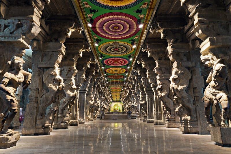 Meenakshi印度寺庙 库存图片