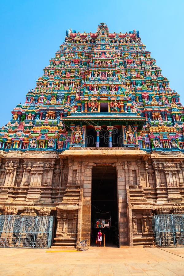 Meenakshi Amman Temple in Madurai stock photo