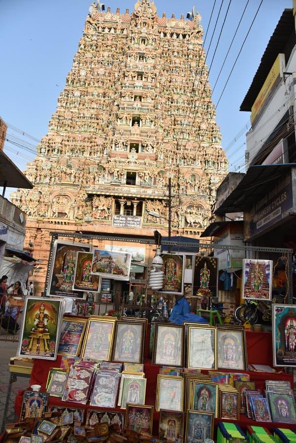 Meenakshi Amman Templo-Madurai imagenes de archivo