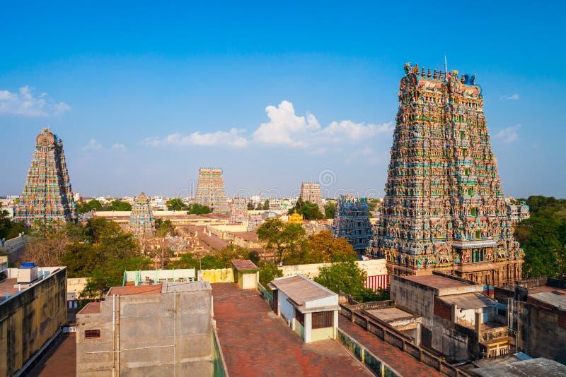 Meenakshi Amman ?wi?tynia w Madurai zdjęcia stock