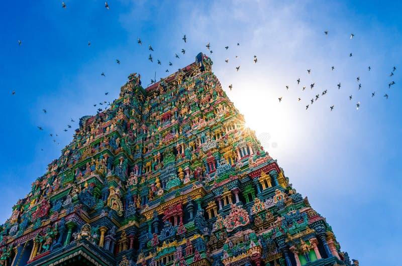 Meenakshi hinduisk tempel i Madurai royaltyfri foto
