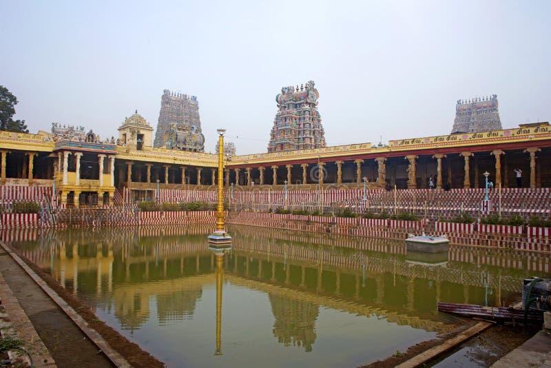 Meenakshi hinduiskt tempel i Madurai arkivfoto