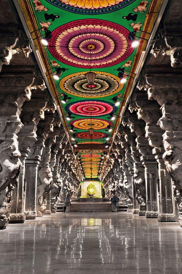 Meenakshi hinduska świątynia obrazy stock