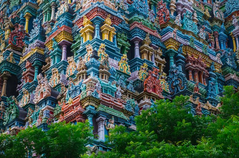 Meenakshi hinduska świątynia w Madurai, obraz royalty free