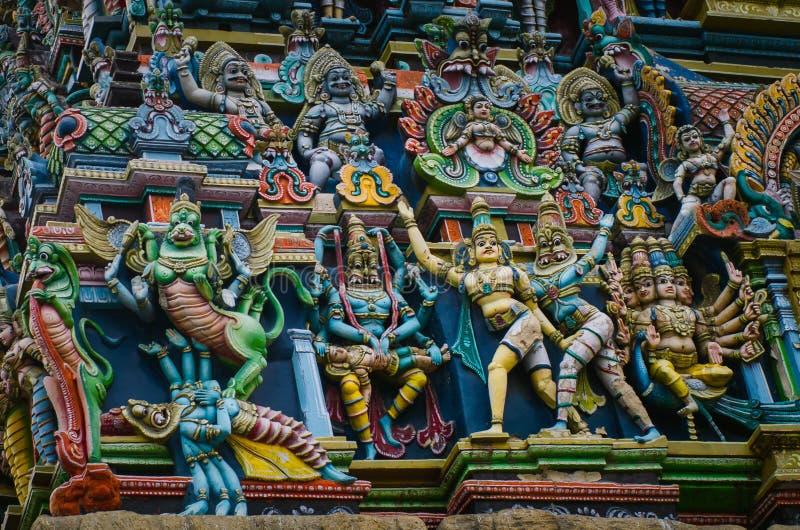 Meenakshi hinduska świątynia w Madurai, zdjęcia stock