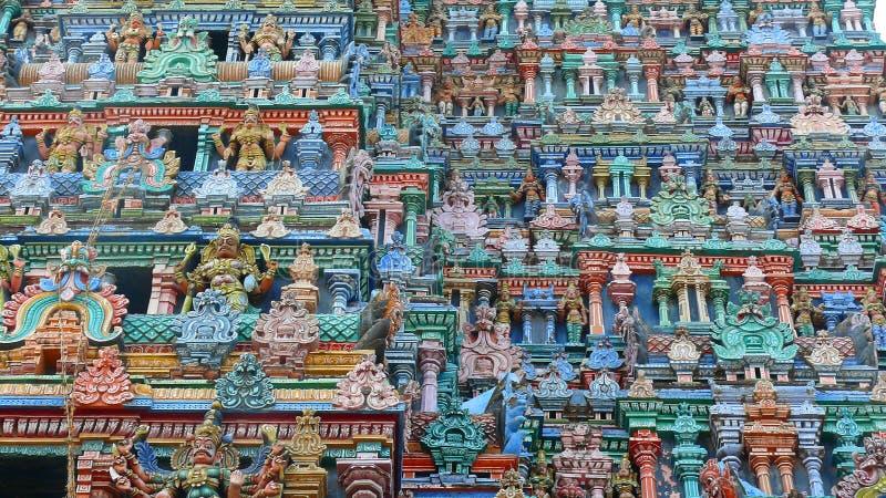 Meenakshi Hinduska świątynia w Madurai, India - zdjęcia stock