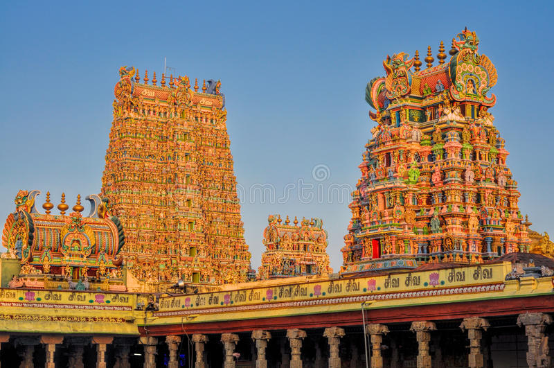 Meenakshiamman Tempel stock afbeeldingen