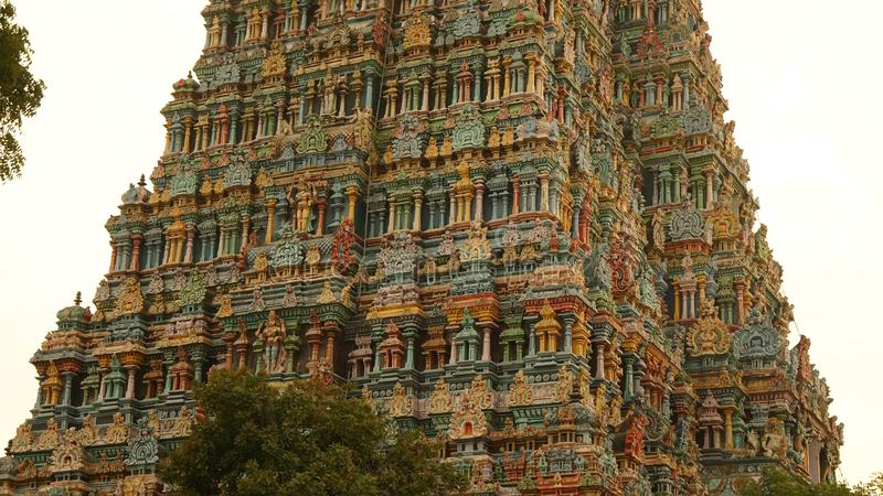 Meenakshiamman Tempel in Madurai, India stock afbeeldingen