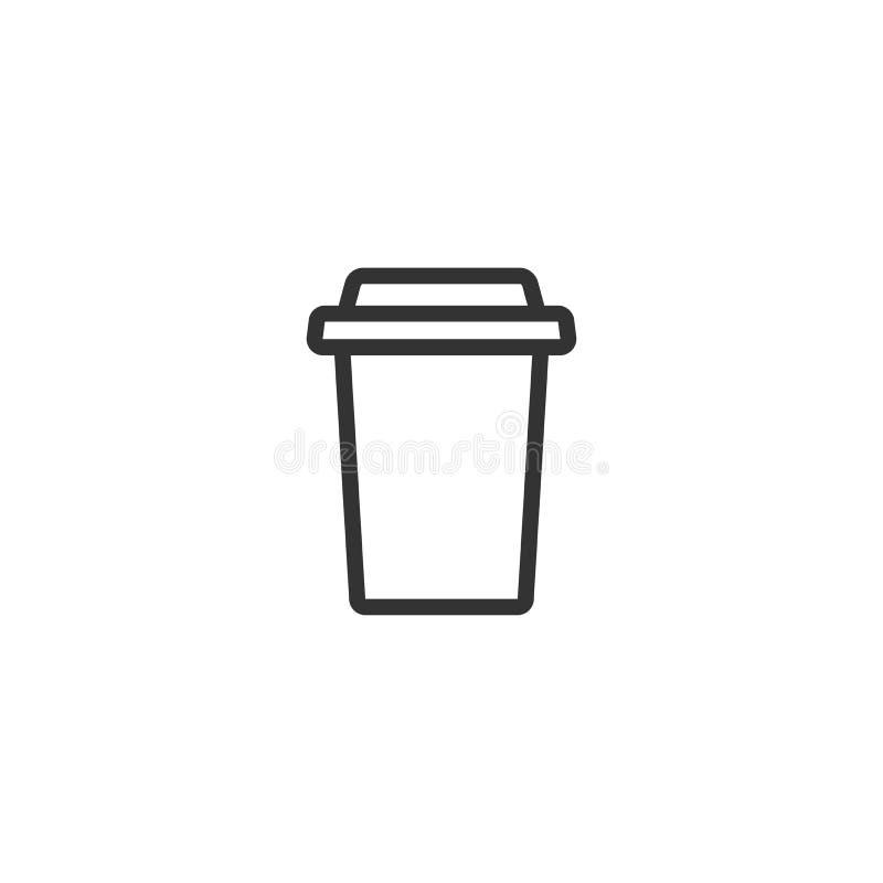 Meeneemkoffie met GLB en kophouder beschikbare kartonkop van koffie Document containerpictogram vector illustratie