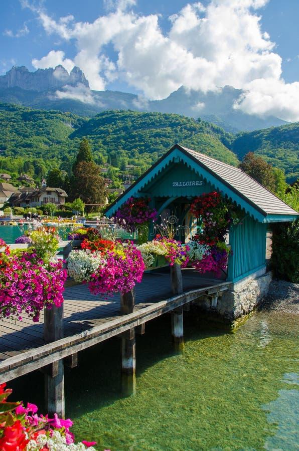 Meer Annecy Frankrijk stock fotografie