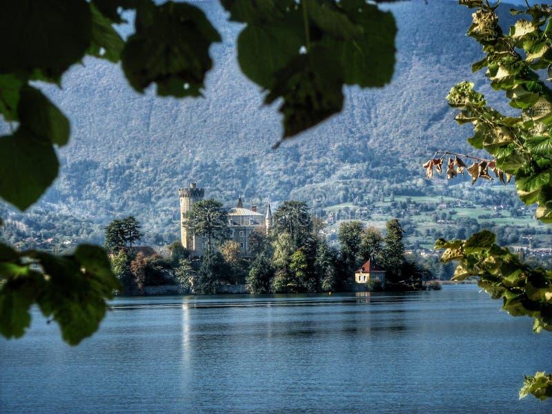 Meer Annecy, Haute Savoie frankrijk royalty-vrije stock foto