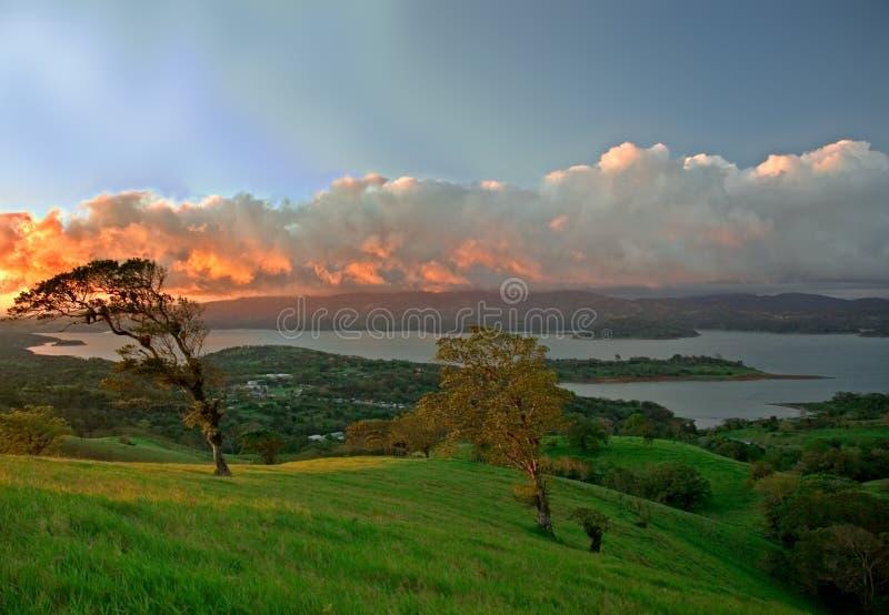 Meer Arenal - Costa Rica royalty-vrije stock fotografie