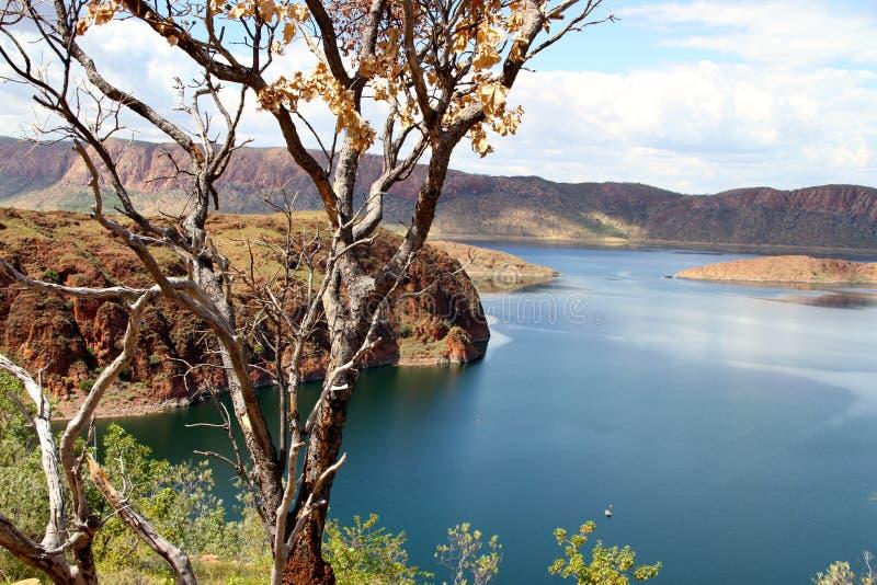 Meer argyle in westelijk Australië royalty-vrije stock afbeelding