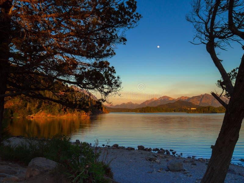 Meer in Bariloche royalty-vrije stock foto's