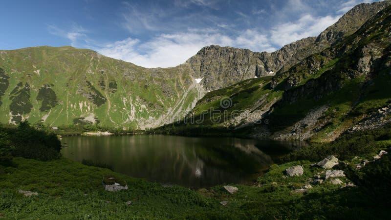 Meer in Bergen Tatra royalty-vrije stock foto's