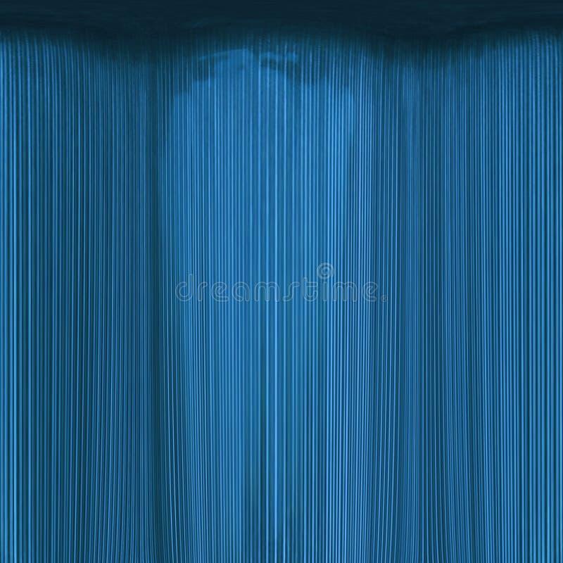 Meer-blauer Theatertrennvorhang Auszug stockfoto