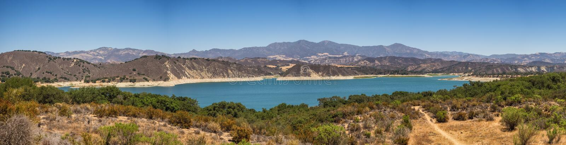 Meer Cachuma dichtbij Santa Barbara royalty-vrije stock afbeelding