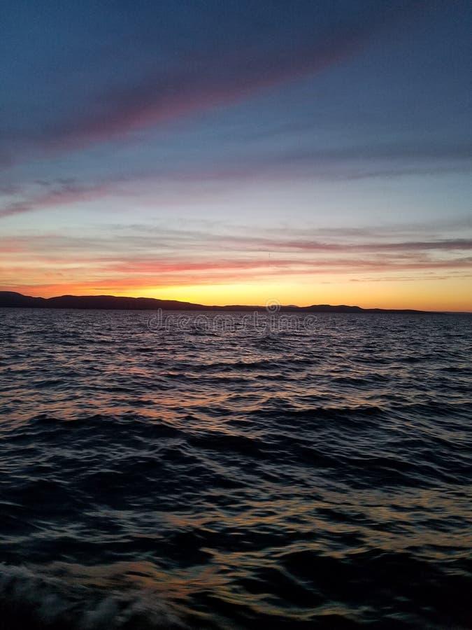 Meer Champlain bij zonsondergang royalty-vrije stock afbeeldingen