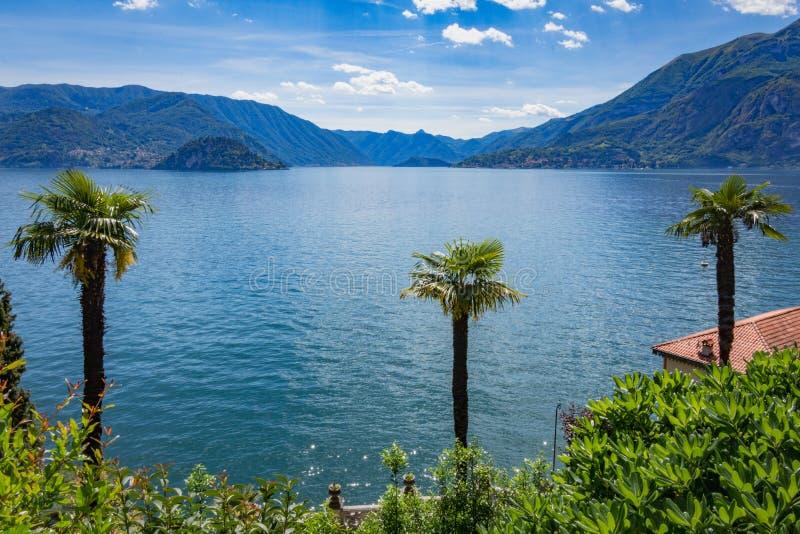 Meer Como, Varenna, Lombardia, Italië royalty-vrije stock fotografie