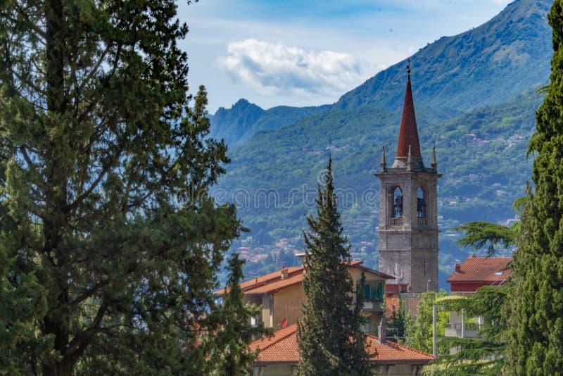 Meer Como, Varenna, Lombardia, Italië stock foto's