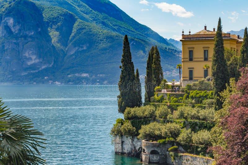 Meer Como, Varenna, Lombardia, Italië royalty-vrije stock foto