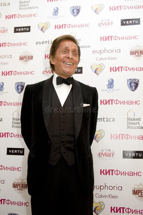 meer couturier Valentino bij de Bal van de Liefde royalty-vrije stock afbeeldingen