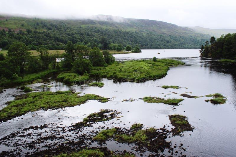 Meer in de Schotse hooglanden royalty-vrije stock foto