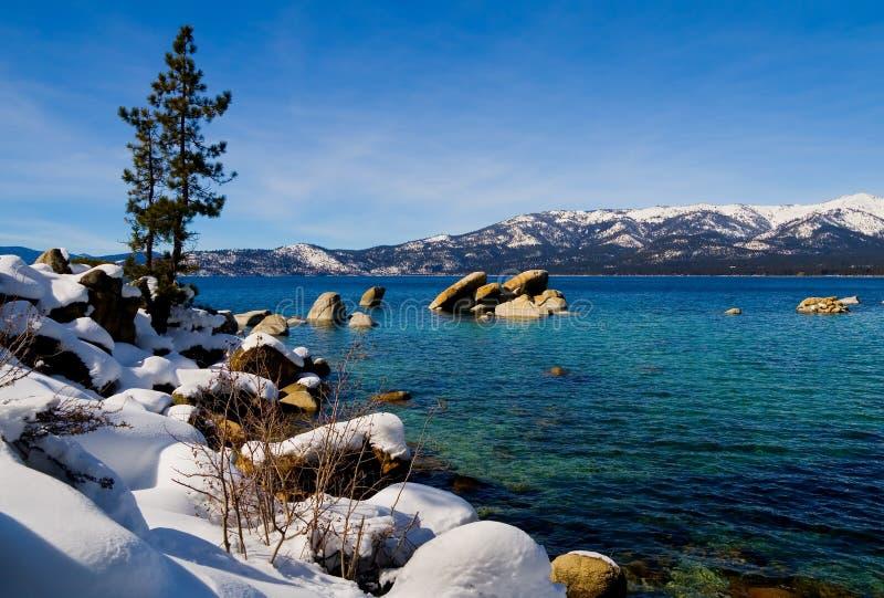 Meer in de winter stock foto's