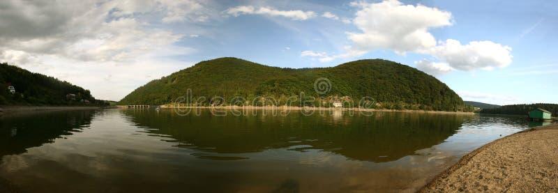 Meer Diemelsee in Duitsland stock foto