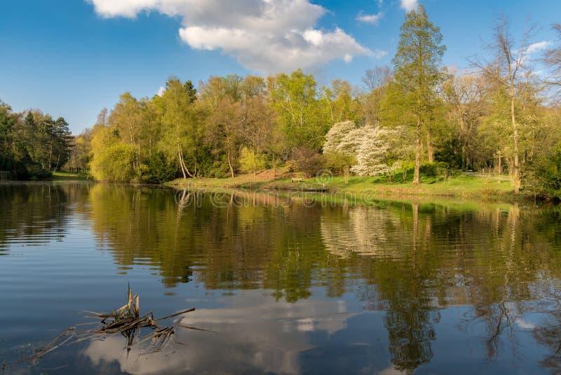 Meer in Ehrenmal Wittringen, Duitsland stock afbeeldingen