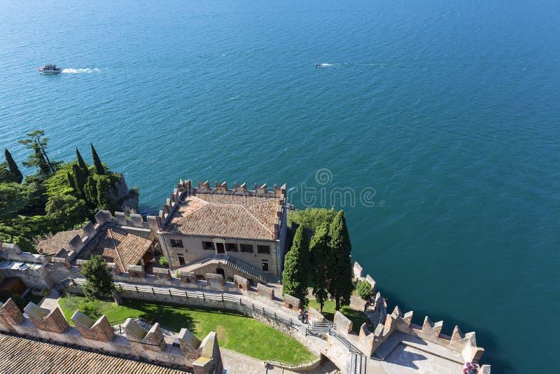 Meer Garda, het grootste meer in Italië, Malcesine, Italië royalty-vrije stock foto's