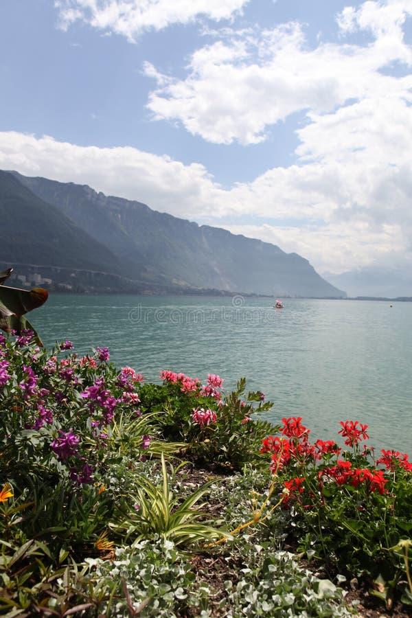 Download Meer Genève. Montreux. stock afbeelding. Afbeelding bestaande uit zwitserland - 39104063
